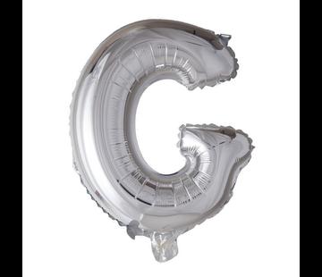 Folieballon letter 'G' zilver