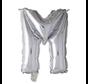 Folieballon letter 'M' zilver