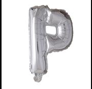 Folieballon letter 'P' zilver