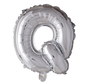 Folieballon letter 'Q' zilver