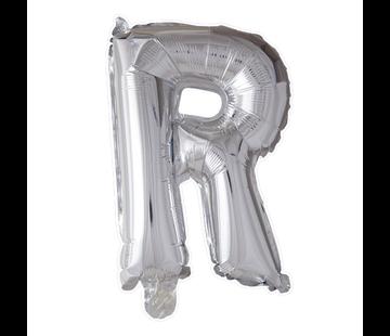 Folieballon letter 'R' zilver