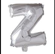Folieballon letter 'Z' zilver