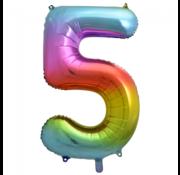 Cijfer ballon 5