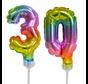 Regenboog taart decoratie ballonnen cijfers 30