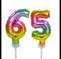 Regenboog taart decoratie ballonnen cijfers 65