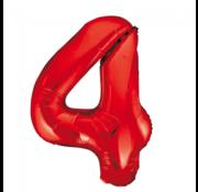 Rode cijfer ballon 4