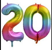 Cijfer ballon 20