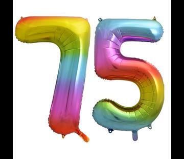 Cijfer ballon 75