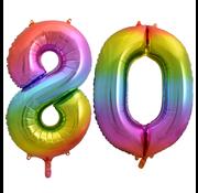 Cijfer ballon 80