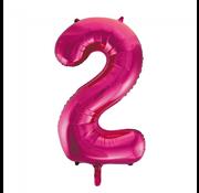 Roze cijfer ballon 2
