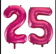 Cijfer ballonnen roze 25