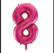 Cijfer ballon roze 8