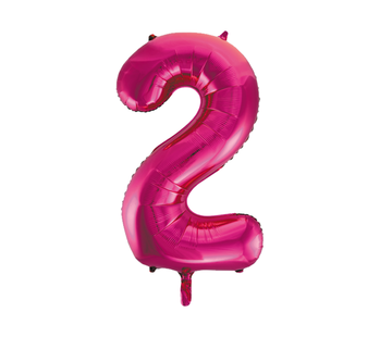 Cijfer ballon roze  2