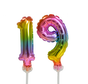 Regenboog taart decoratie ballonnen cijfers 19