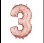Rosé goud cijfer 3