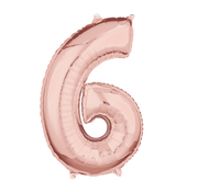 Rosé goud cijfer 6