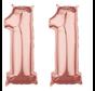 Folie  rosé goud cijfer 11 ballon