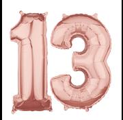 Rosé goud cijfer 13