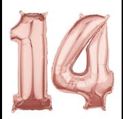 Rosé goud cijfer 14