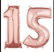 Rosé goud cijfer 15