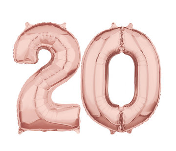 Rosé goud cijfer 20