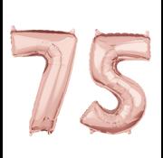 Rosé goud cijfer 75