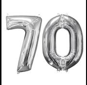 Helium ballonnen cijfers 70