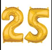Cijfer ballonnen goud 25