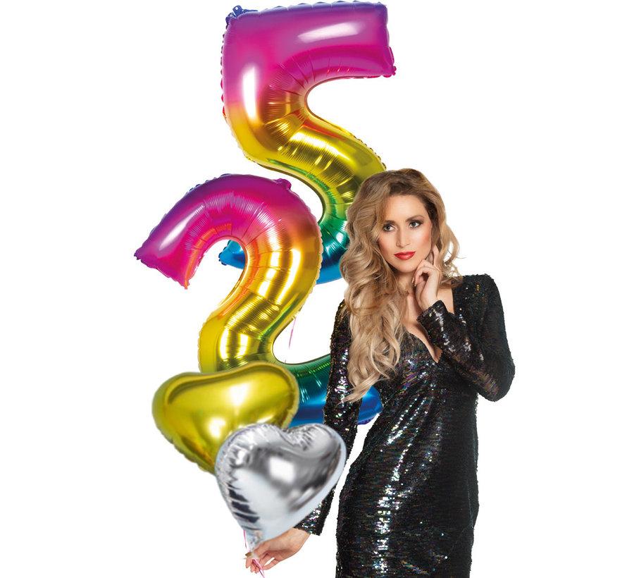 4 delig ballonboeket helium gevuld