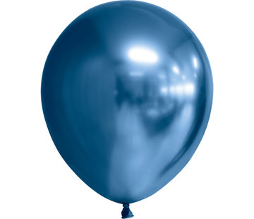 Blauwe chroom ballonnen
