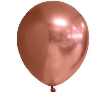 Koperkleurige chroom ballonnen