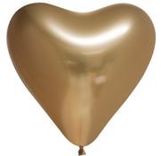 Harten ballonnen goud-kleurig