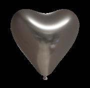Antracietgrijs harten ballonnen