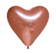 Koperkleurige harten ballonnen