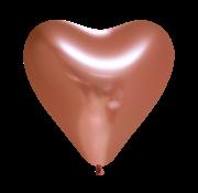 harten ballonnen koperkleurige