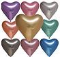 Latex chrome assortie  harten ballonnen