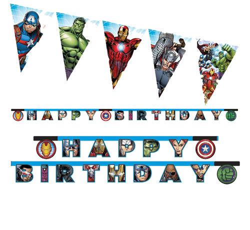 Avengers letterslinger Happy Birthday