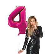 Roze cijfer ballon 4