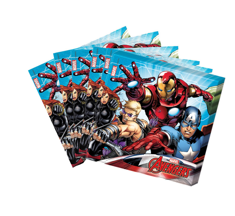 Papieren Avengers servetten 20 stuks