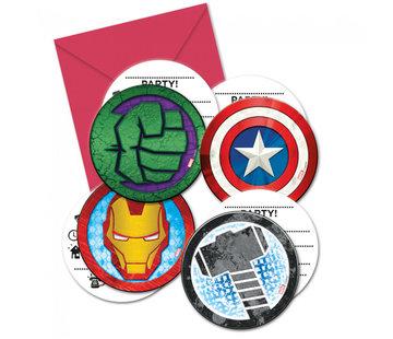 Avengers uitnodigingskaartjes