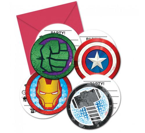 Avengers uitnodigingskaartjes met enveloppen