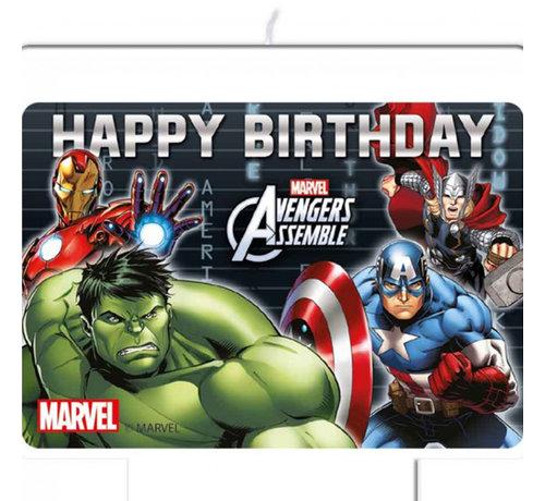 Avengers verjaardagskaars taart decoraties
