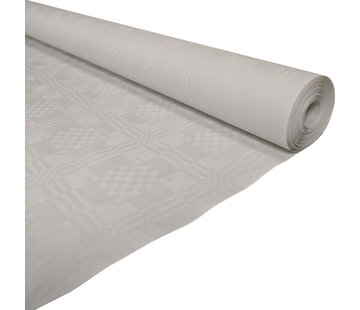 damast tafelkleed wit 50 meter
