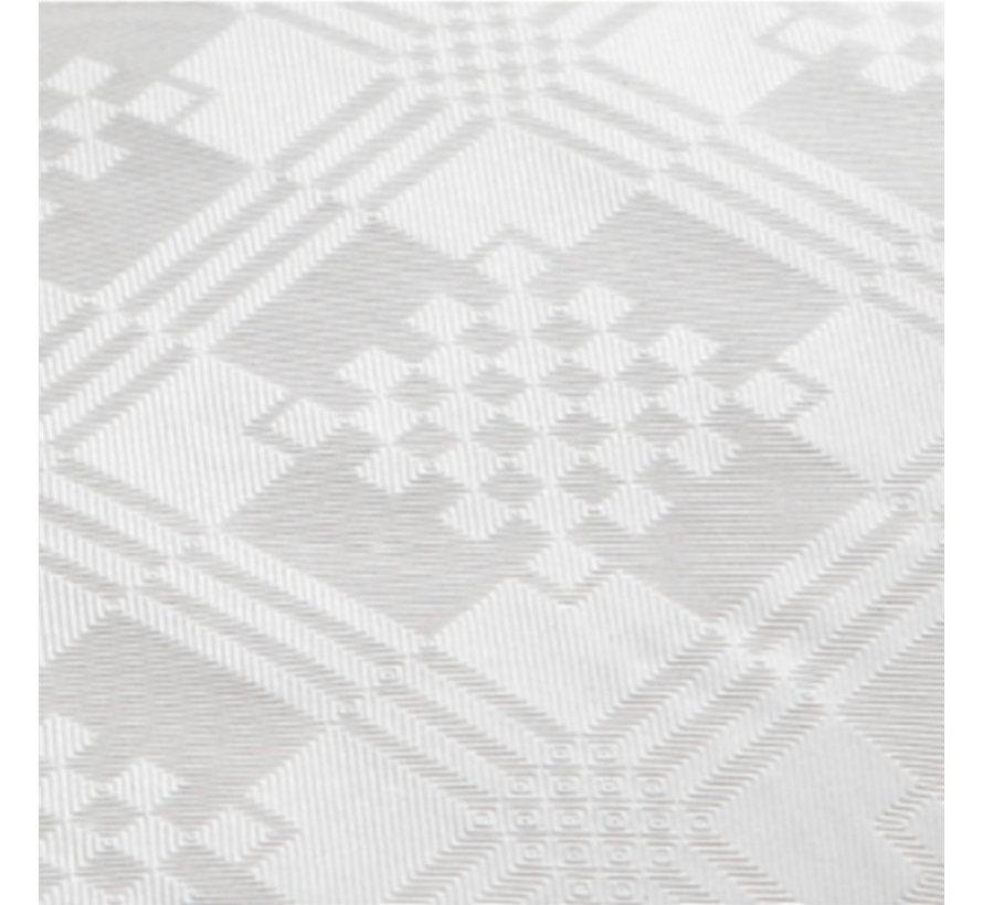 Papieren damast tafelkleed wit 50 meter
