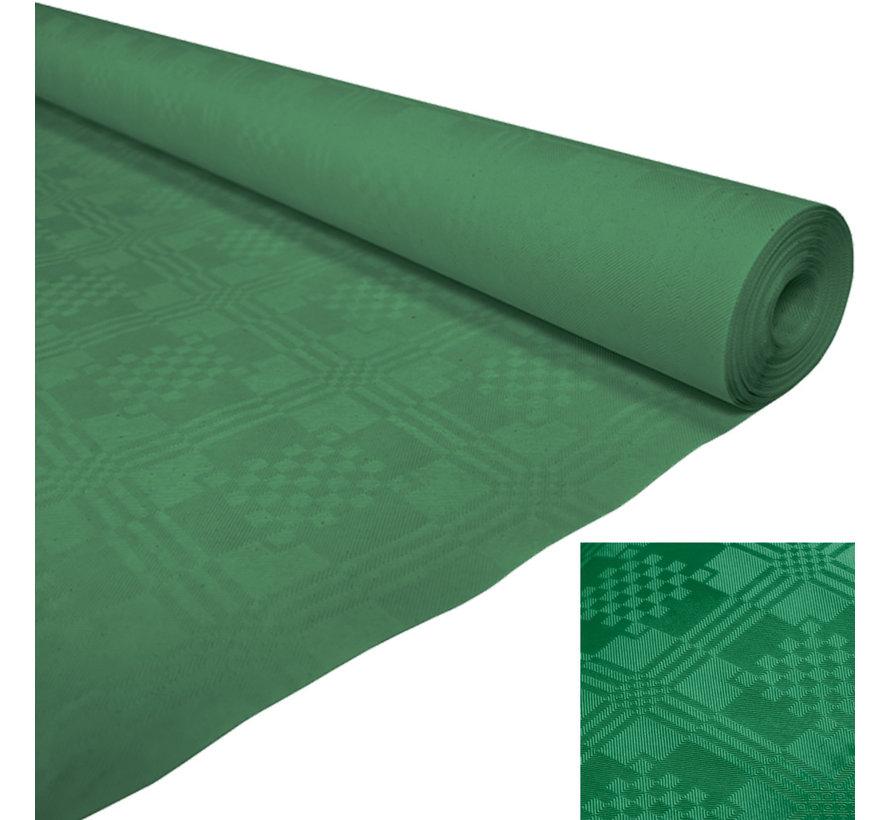 Damast Papieren tafelkleed groen