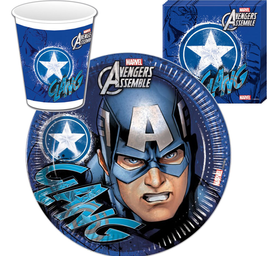 Captain America wegwerpservies set