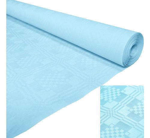 Lichtblauw papieren tafelkleed op rol