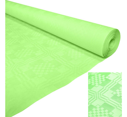 Papieren Lime groen tafelkleed op rol