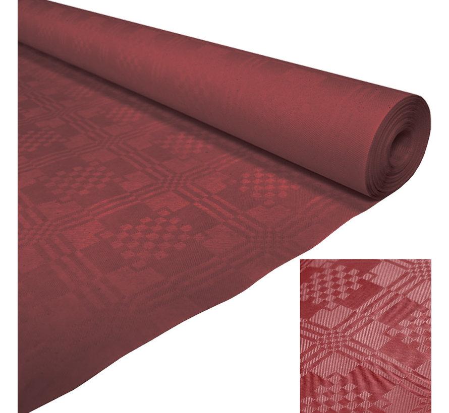 bordeaux rood tafelkleed op rol