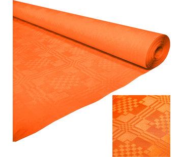 Papieren tafelkleed oranje 8 m x 1,19 m
